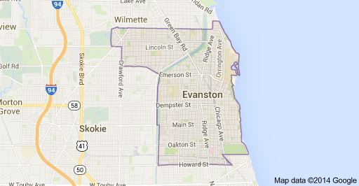 Evanston IL Map