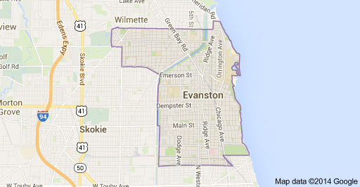 Evanston-IL-Google-Map