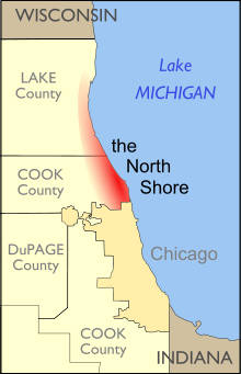 Chicago-North-Shore map
